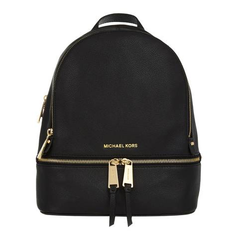 Michael Kors Black Rhea Leather Backpack