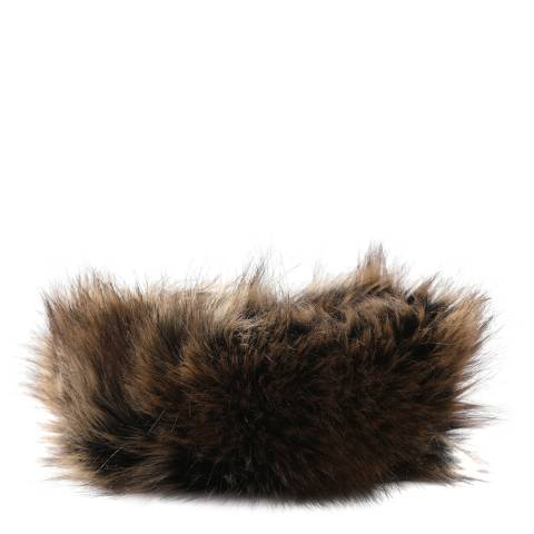 JayLey Collection Brown Faux Fur Headband