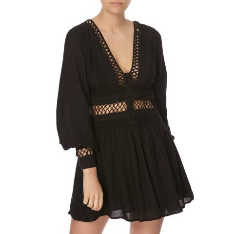Free People Black I Think I Love Dress
