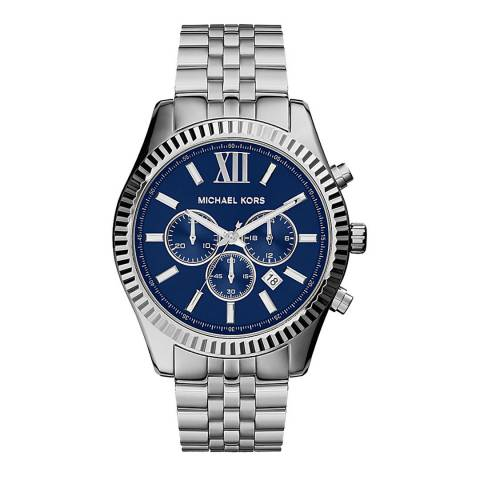 Michael Kors Men's Silver Stainless Steel Chronograph Lexington Watch