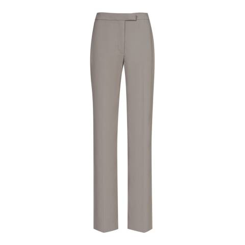 Reiss Pebble Grey Karmine Wide Leg Trousers