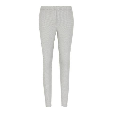 Reiss Monochrome Dagna Textured Slim Fit Trousers