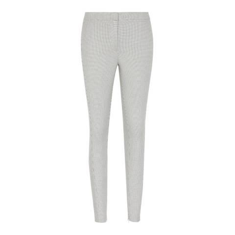 Reiss Monochrome Dagna Textured Slim Fit Trousers