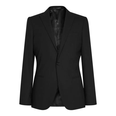 Reiss Black Knapp B Slim Fit Wool Blazer