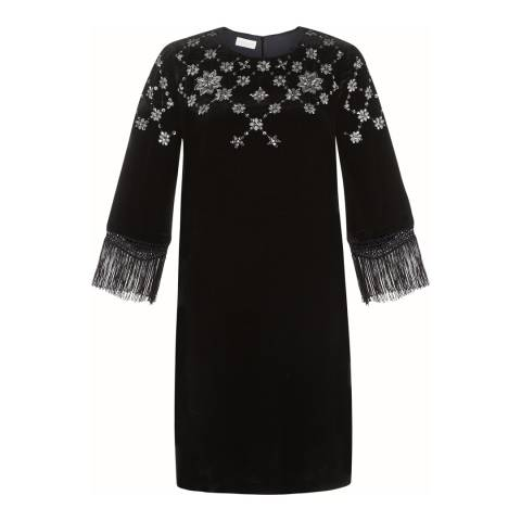 Monsoon Black Vivienne Velvet Tunic