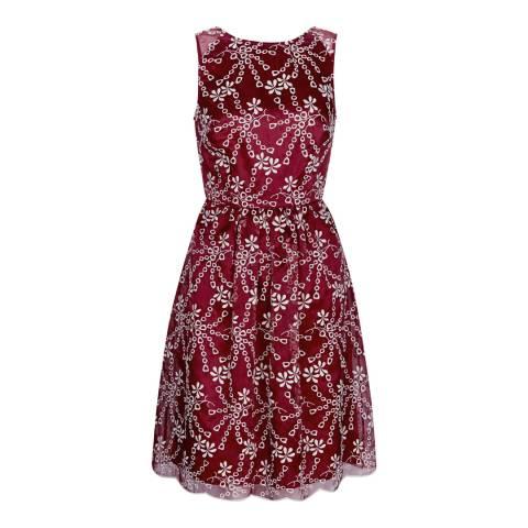 Monsoon Burgundy Nadia Dress