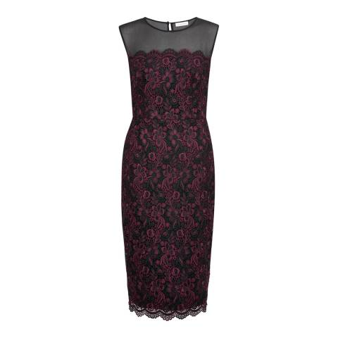 Monsoon Red Molly Lace Dress