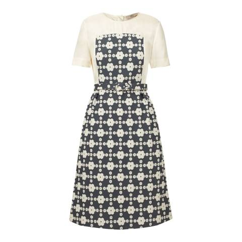 Orla Kiely Pebble Daisy Gingham Short Sleeve Dress