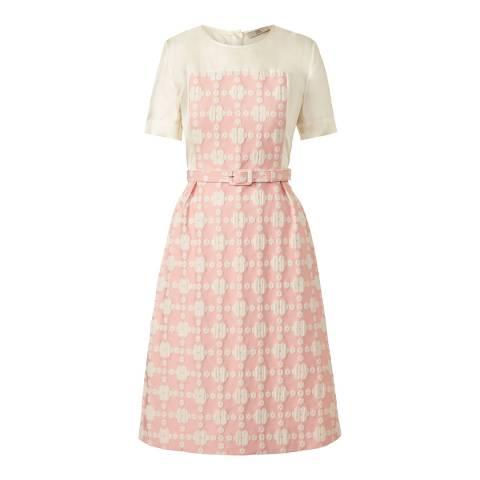 Orla Kiely Pink Daisy Gingham Short Sleeve Dress