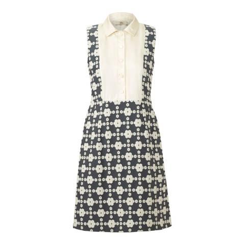 Orla Kiely Grey Daisy Gingham Shift Dress