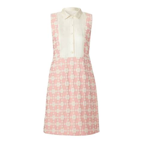 Orla Kiely Pink Daisy Gingham Shift Dress