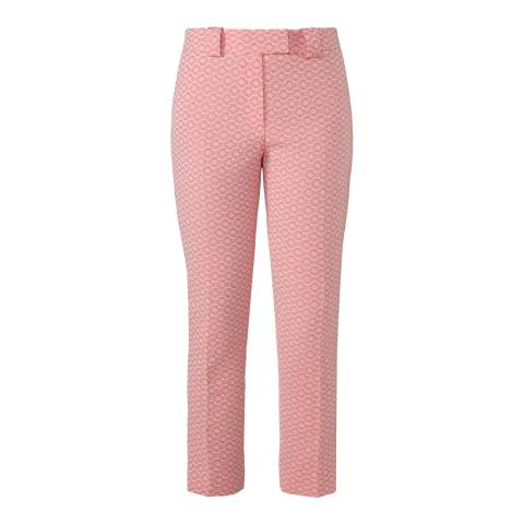 Orla Kiely Coral Flower Spot Jacquard Trousers