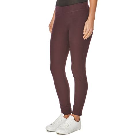 Joseph Burgundy Stretch Gabardine Leggings