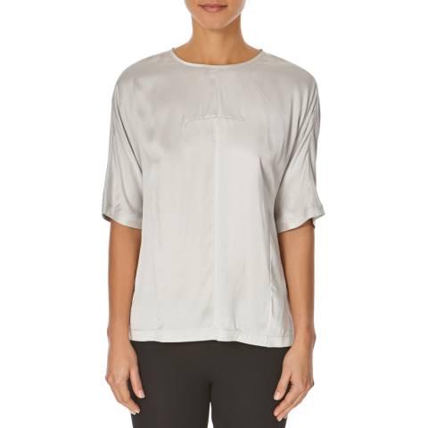 Joseph Grey Silk Cotton Blend Top
