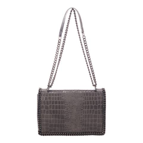 Lisa Minardi Grey Leather Shoulder Bag