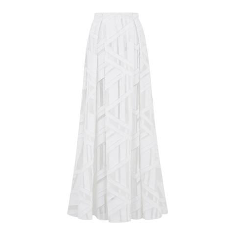 Amanda Wakeley White Jacquard Organza Skirt