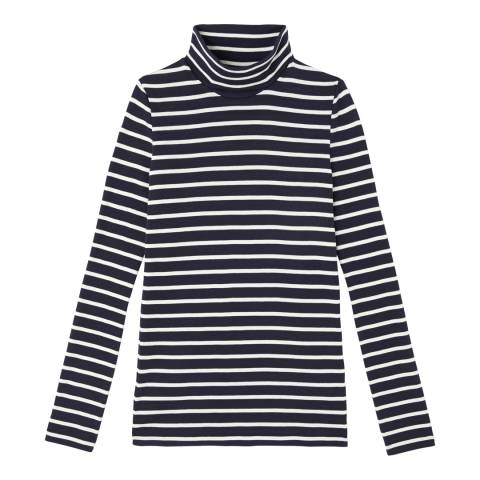 Petit Bateau Blue/ Beige Turtleneck sweater