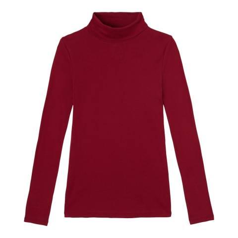 Petit Bateau Deep Red Turtleneck Sweater