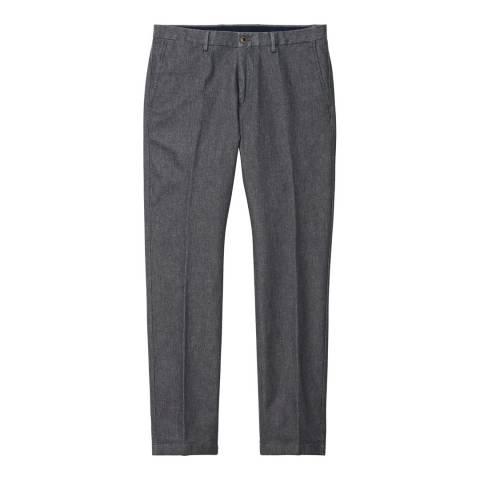 Gant Grey Tailored Pique Melange Pant