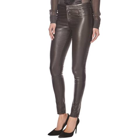 2 Love Tony Cohen Brown Hyacinth Leather Trousers