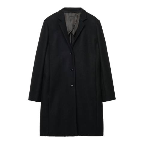 Gant Black Comfort Capelot Button Coat