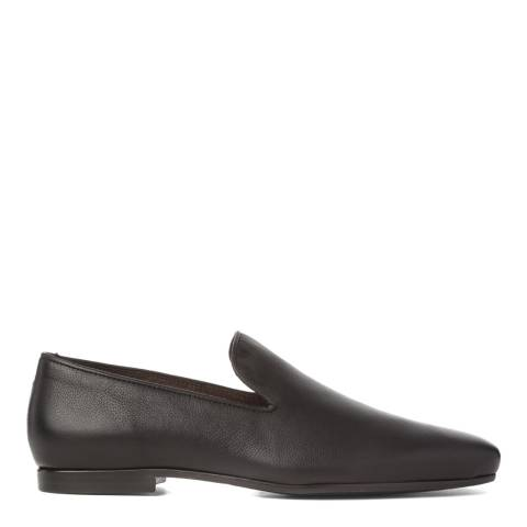 Aquascutum Black Leather Slipper