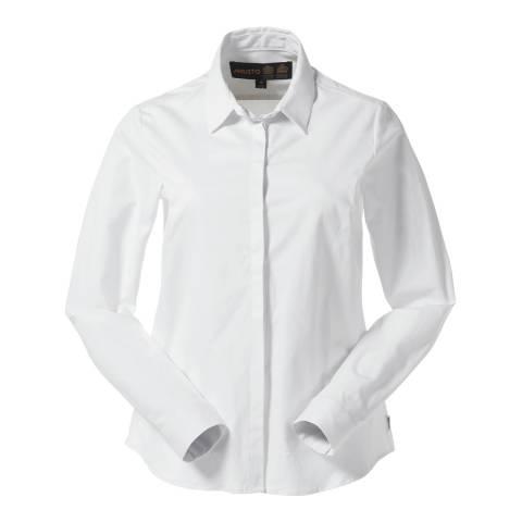 Musto Women's Bright White Seren Cotton Shirt