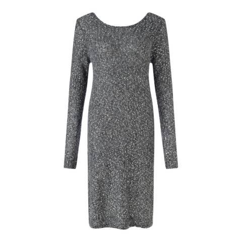 Jigsaw Womens Grey Sparkle Knit Dress