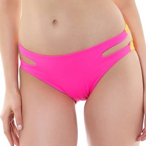 Freya Bright Pink Virtue Cut Out Hipster Bikini Briefs