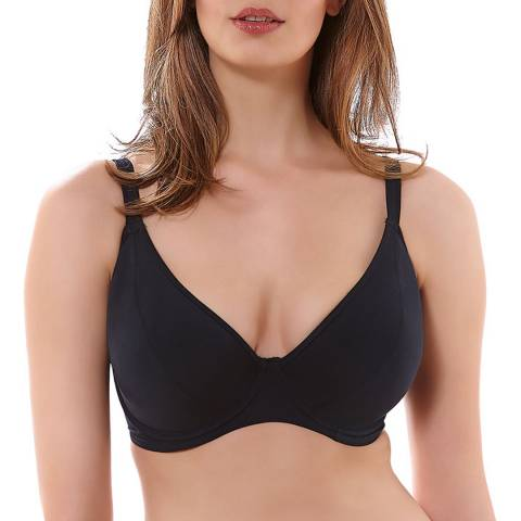 Freya Black In The Mix Underwired Padded Plunge Bikini Top