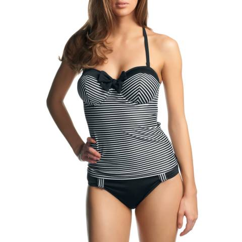 Freya Black Tootsie Underwired Bandeau Tankini Top