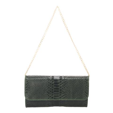 Giorgio Costa Dark Green Leather Clutch Bag