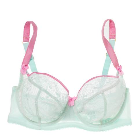 Mimi Holliday Hot Pink and Aqua Tilt A Whirl Maxi Bra