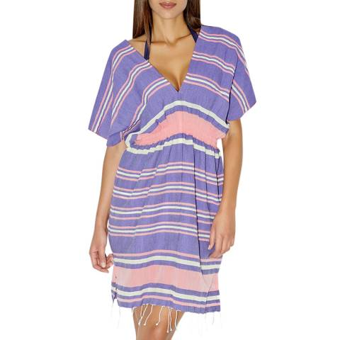 Aubade Purple Espirit Sauvage Striped Beach Dress