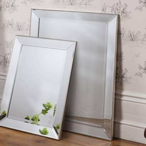 Gallery Silver Baskin Mirror 39.5 x 31 Inches