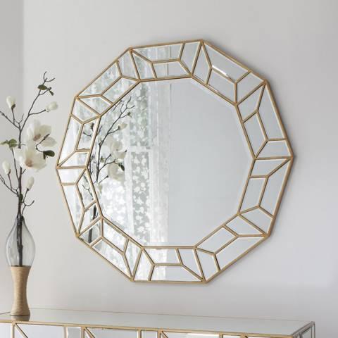 Gallery Gold Celeste Circular Mirror 105cm