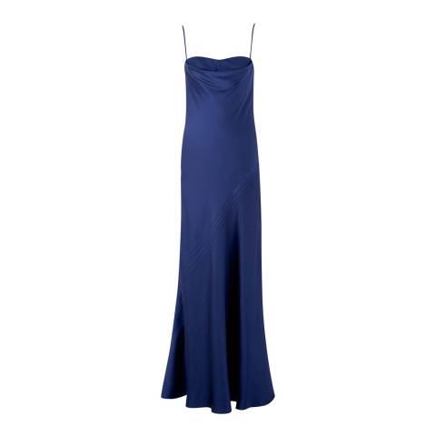 Amanda Wakeley Mulberry Asayva Crepe Back Satin Long Dress