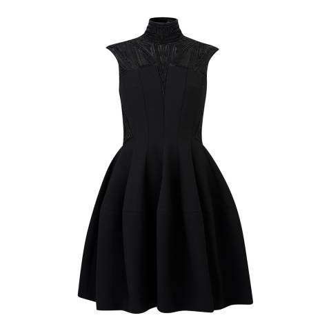 Amanda Wakeley Black Atelier Panelled Deco Dress