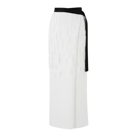 Amanda Wakeley White Dial Straight Skirt