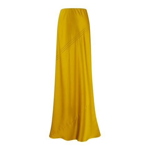 Amanda Wakeley Chartreuse Crepe Satin Skirt
