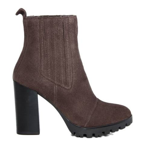 Gusto Taupe Suede Platform Chelsea Boots