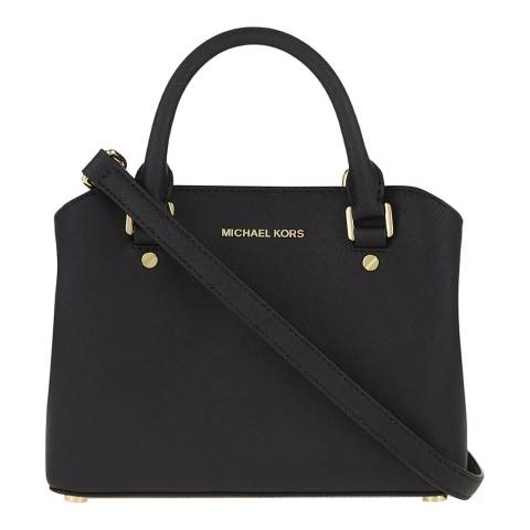 Michael Kors Black Savannah Leather Handbag