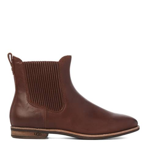UGG Brown Leather Joey Chelsea Boots