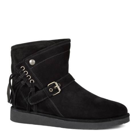 UGG Black Suede Karisa Boots