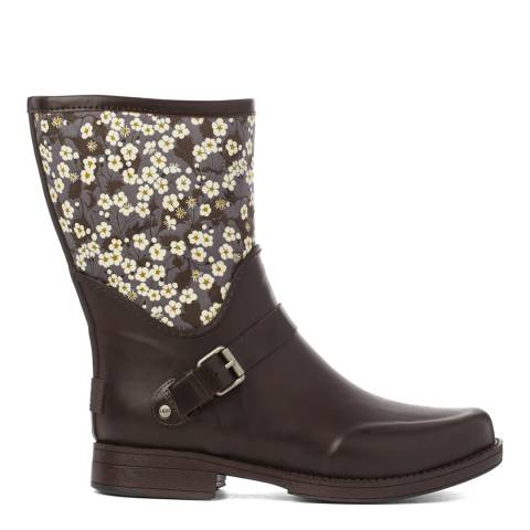 UGG Brown Sivada Liberty Rain Boots