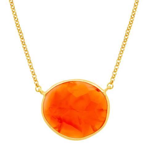Liv Oliver Carnelian Oval Pendant Necklace