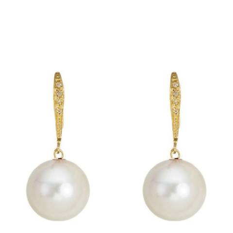 White label by Liv Oliver Gold Pearl Drop Earrings