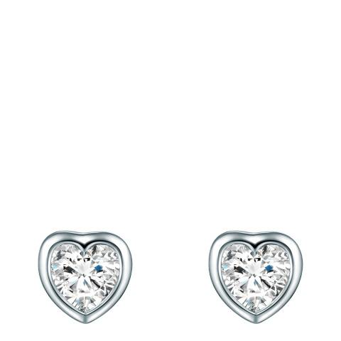 Carat 1934 Silver Heart Stud Earrings