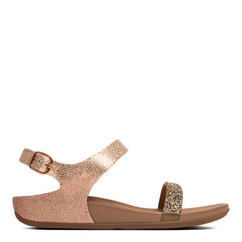 e5c1f4940 Bronze Embellished Leather Banda Roxy Slide Sandals - BrandAlley