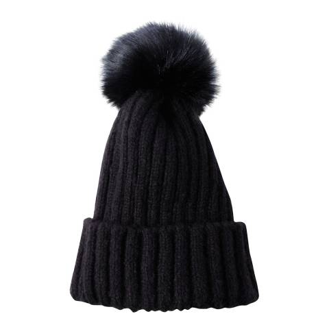 JayLey Collection Luxury Faux Fur Pom Pom Hat
